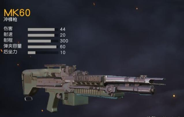 荒野行动MK60重机枪和95式轻机枪对比分析