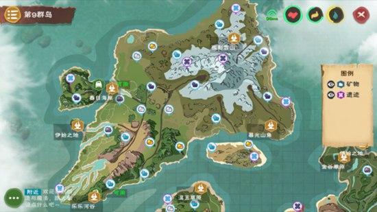 创造与魔法7月13日新版本地图 地图资源分布一览