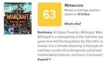 《魔兽3:重制版》外包团队:评分这么低我们也