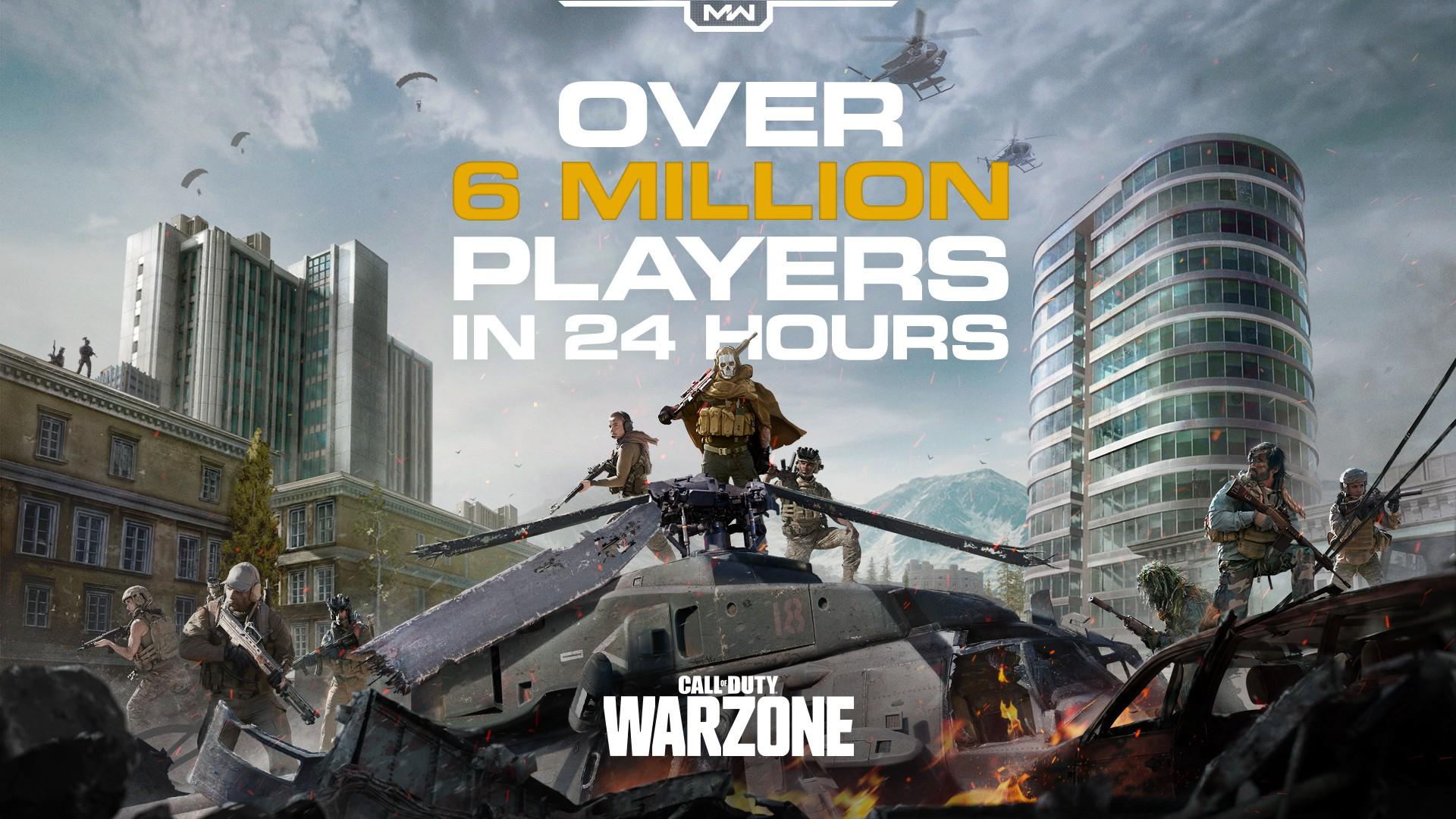 《使命召唤:战区》吃鸡模式玩家超600万