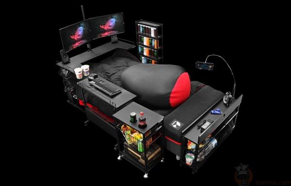 肥宅快乐电竞床!游戏玩家梦寐以求的奇葩装备盘点