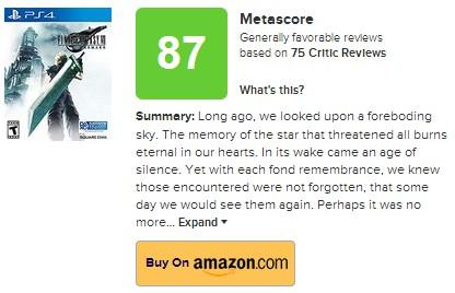 《最终幻想7:重制版》将于4月10日正式解禁
