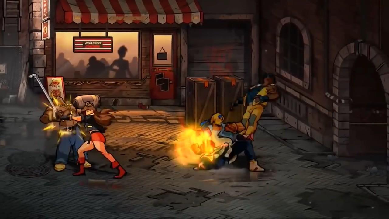 横版动作游戏《怒之铁拳4》新实机预告欣赏