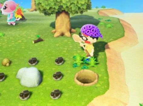 集合啦动物森友会无人岛与挖铁矿技巧