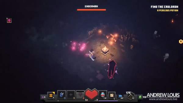 《我的世界:地下城》正式发售 Boss招式风格展示