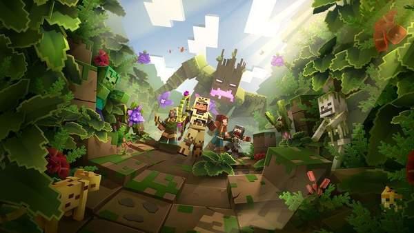 进入危机四伏的雨林《我的世界:地下城》首款