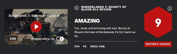 《无主之地3》浴血镖客IGN评测 有趣值得探索的世