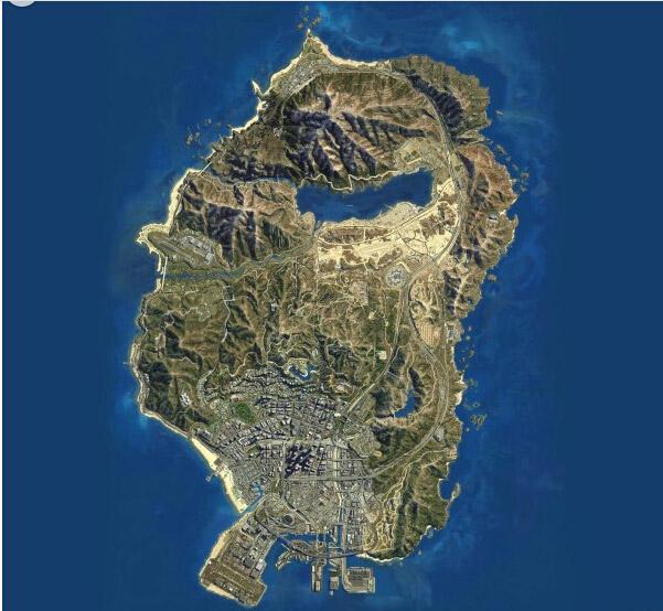 侠盗猎车手5(GTA5) 地图有多大 洛圣都高清全景大