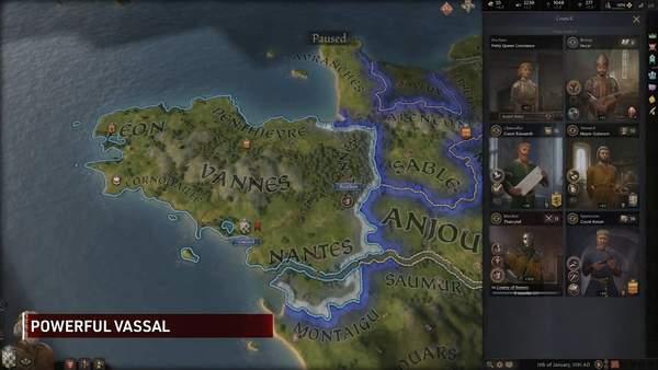 《十字军之王3》最新介绍视频 封臣相关机制展示