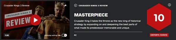 《十字军之王3》IGN评价 大师级杰作策略类游戏新