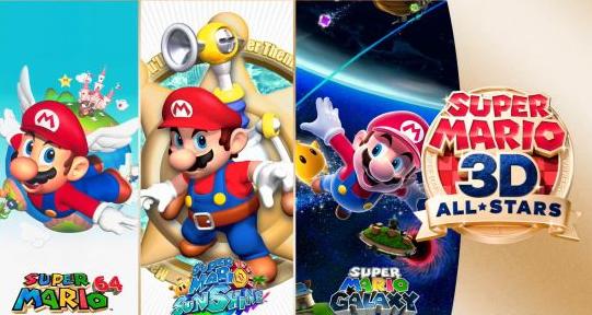 《超级马里奥3D全明星》为亚马逊美服最畅销游戏