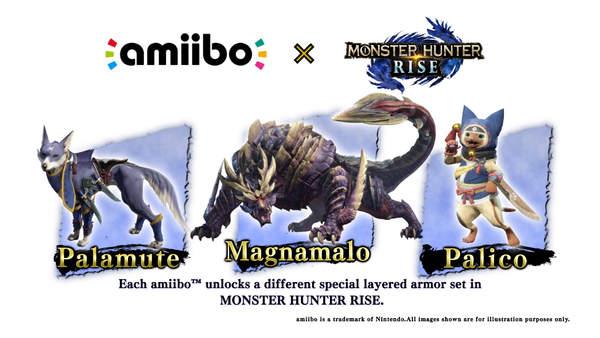 《怪物猎人:崛起》amiibo手办玩具和游戏同步首