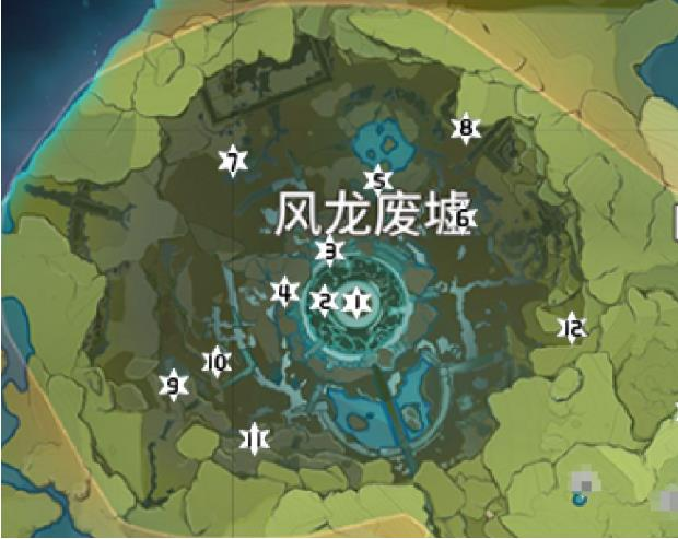 原神蒙德风神瞳具体位置地图详解