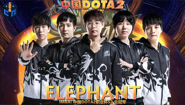 中国《DOTA2》职业杯S2落下帷幕 小象战队夺得首冠