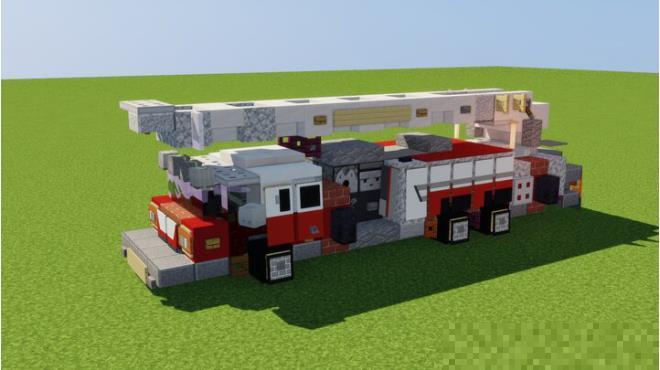 《我的世界》消防车建筑介绍,细节满满