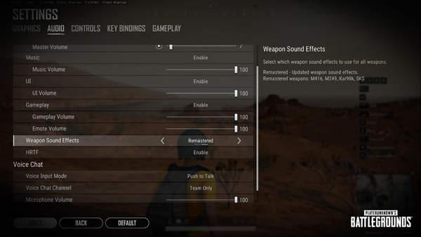 《绝地求生》10.3版更新介绍 武器音效系统上线