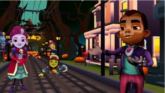 惊奇万圣狂欢夜《地铁跑酷》小石城版本上线