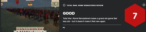 《罗马:全面战争重制版》IGN评测 作品仍充满怀旧风