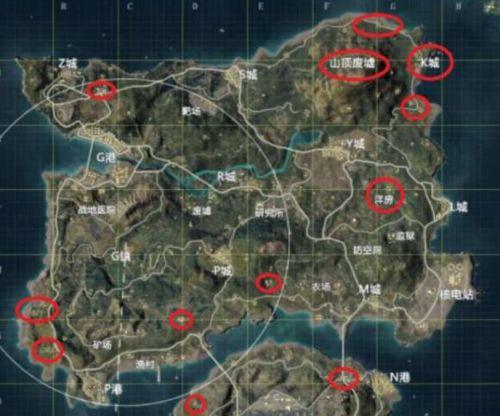 和平精英苟分技巧,海岛地图2.0最佳地点