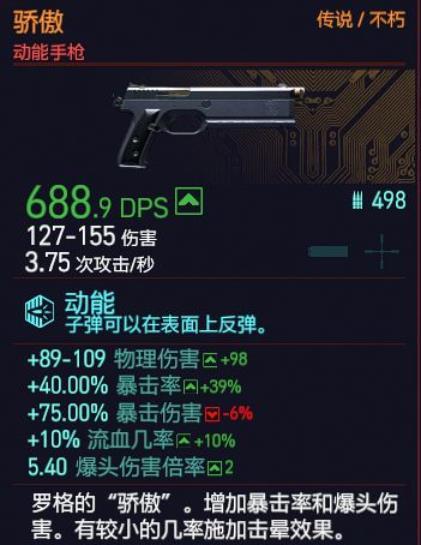 《赛博朋克2077》不朽手枪骄傲获取方法