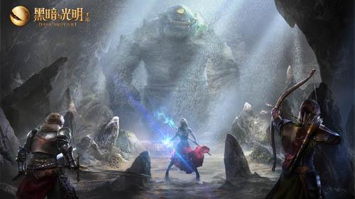 《黑暗与光明手游》玩家渡过初始求生,熔岩虎