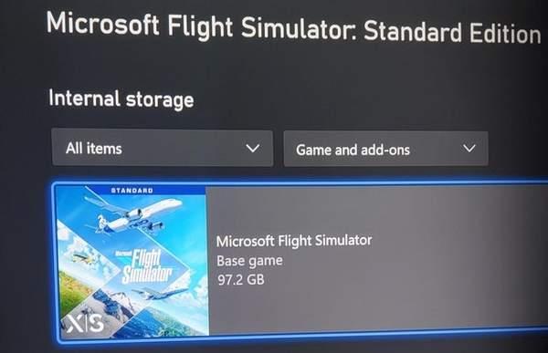 《微软飞行模拟》XSX/S版容量公布 占据100G空间
