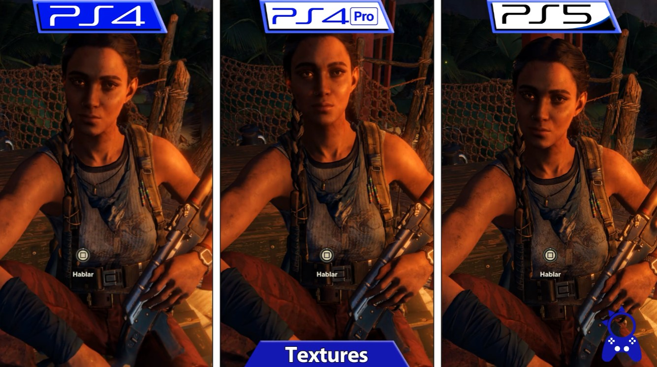 《孤岛惊魂6》PS4、PS4 Pro、PS5画质对比 帧数稳定